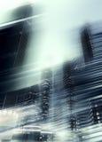 Fondo abstracto del negocio para el diseño rascacielos modernos del negocio con concepto de la falta de definición de movimiento imagenes de archivo
