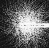 Fondo abstracto del negro del vector Foto de archivo libre de regalías