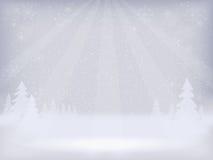 Fondo abstracto del paisaje del invierno Fotos de archivo libres de regalías