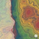 Fondo abstracto del paisaje mosaico 3d Fotografía de archivo