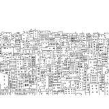 Fondo abstracto del paisaje urbano, modelo inconsútil ilustración del vector