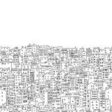 Fondo abstracto del paisaje urbano, modelo inconsútil para su diseño stock de ilustración