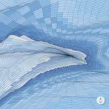 Fondo abstracto del paisaje Vector del mosaico Fotos de archivo
