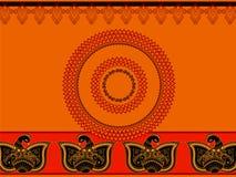 Fondo abstracto del Paisley-pavo real de la alheña Imagenes de archivo