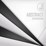 Fondo abstracto del papel blanco y negro de la papiroflexia Ilustración del vector Foto de archivo