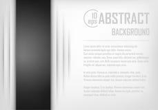 Fondo abstracto del papel blanco y negro de la papiroflexia Ilustración del vector Fotografía de archivo libre de regalías