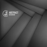 Fondo abstracto del papel negro de la papiroflexia Ilustración del vector Imágenes de archivo libres de regalías