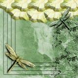 Papel pintado de la libélula stock de ilustración