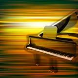 Fondo abstracto del piano del grunge con el piano de cola Foto de archivo