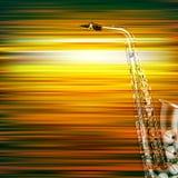 Fondo abstracto del piano del grunge con el saxofón Imagen de archivo libre de regalías