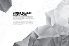 Fondo abstracto del polígono con color negro y gris ilustración del vector