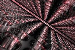 Fondo abstracto del rojo 3D Imagen de archivo