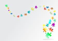 Fondo abstracto del rompecabezas del arco iris Imagen de archivo libre de regalías