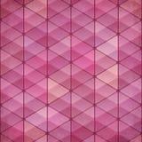 Fondo abstracto del rosa del vector del vintage de los triángulos Imágenes de archivo libres de regalías