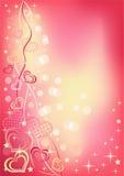 Fondo abstracto del `s de la tarjeta del día de San Valentín. Vertical. Foto de archivo libre de regalías