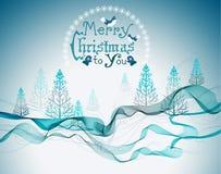 Fondo abstracto del saludo de la Navidad Fotografía de archivo