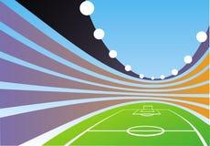 Fondo abstracto del stadion stock de ilustración