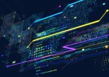 Fondo abstracto del techno Foto de archivo libre de regalías