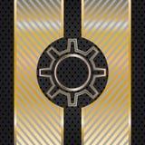 Fondo abstracto del techno con el engranaje del metal. Fotos de archivo