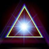Fondo abstracto del techno del triángulo. Foto de archivo