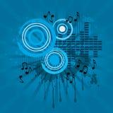 Fondo abstracto del tema del sonido de la música Foto de archivo libre de regalías