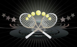 Fondo abstracto del tenis. Imagen de archivo libre de regalías