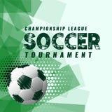 Fondo abstracto del torneo del fútbol en estilo del grunge Fotos de archivo libres de regalías