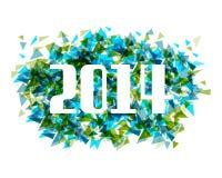 Fondo abstracto del triángulo de la Feliz Año Nuevo 2014 Imagen de archivo libre de regalías