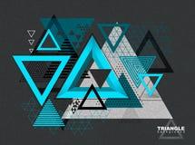 Fondo abstracto del triángulo del inconformista Fotografía de archivo libre de regalías