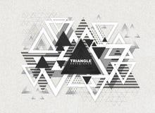 Fondo abstracto del triángulo del poligon del inconformista Imagenes de archivo