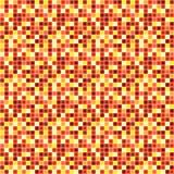 Fondo abstracto del vector con el mosaico en el amarillo, rojo stock de ilustración