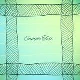 Fondo abstracto del vector con el ornamento étnico Imagen de archivo libre de regalías