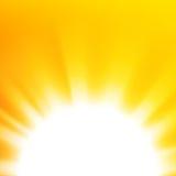 Fondo abstracto del vector con el sol anaranjado libre illustration