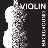Fondo abstracto del vector con el violín y las notas Fotografía de archivo libre de regalías
