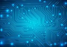 Fondo abstracto del vector con la placa de circuito de alta tecnología Fotos de archivo libres de regalías