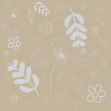Fondo abstracto del vector con las flores Fotografía de archivo