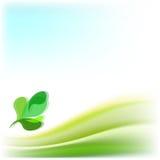 Fondo abstracto del vector con las hojas verdes Imágenes de archivo libres de regalías
