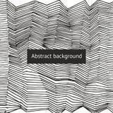Fondo abstracto del vector con las líneas Fotografía de archivo