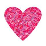 Fondo abstracto del vector con las notas y los corazones Fotografía de archivo libre de regalías
