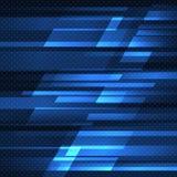 Fondo abstracto del vector con las rayas azules Foto de archivo