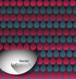 Fondo abstracto del vector con los círculos Foto de archivo