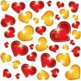 Fondo abstracto del vector con los corazones Fotografía de archivo