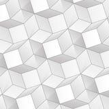 Fondo abstracto del vector con los cubos del volumen Imágenes de archivo libres de regalías