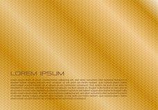 Fondo abstracto del vector con textura del metal en color oro libre illustration