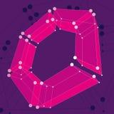 Fondo abstracto del vector de la malla 3d Fotos de archivo