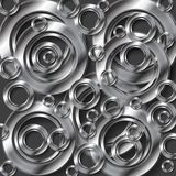 Fondo abstracto del vector de la plata metalizada Foto de archivo libre de regalías
