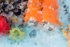 Fondo abstracto del vector de triángulos Fotografía de archivo