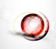 Fondo abstracto del vector del círculo del techno Imagen de archivo