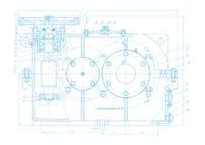 Fondo abstracto del vector del dibujo de ingeniería Foto de archivo libre de regalías