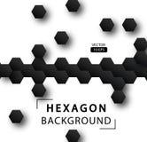 Fondo abstracto del vector del hexágono Foto de archivo